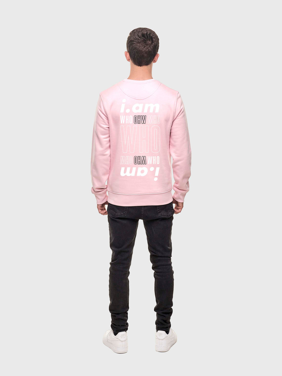I am who I am - Pink - Unisex sweatshirt