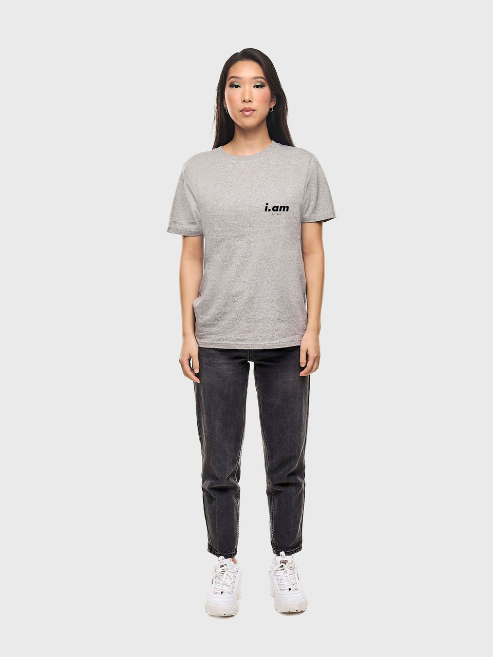 Showing not telling - White / Grey - Unisex T