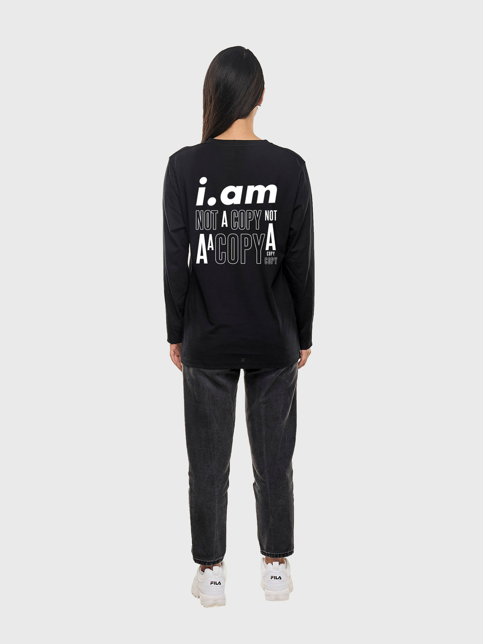 Not a copy - Black - Unisex long sleeve T