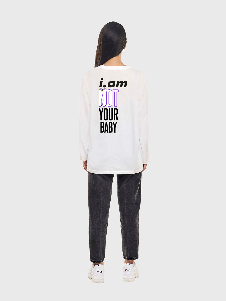 Not your baby - white - unisex Long sleeve T