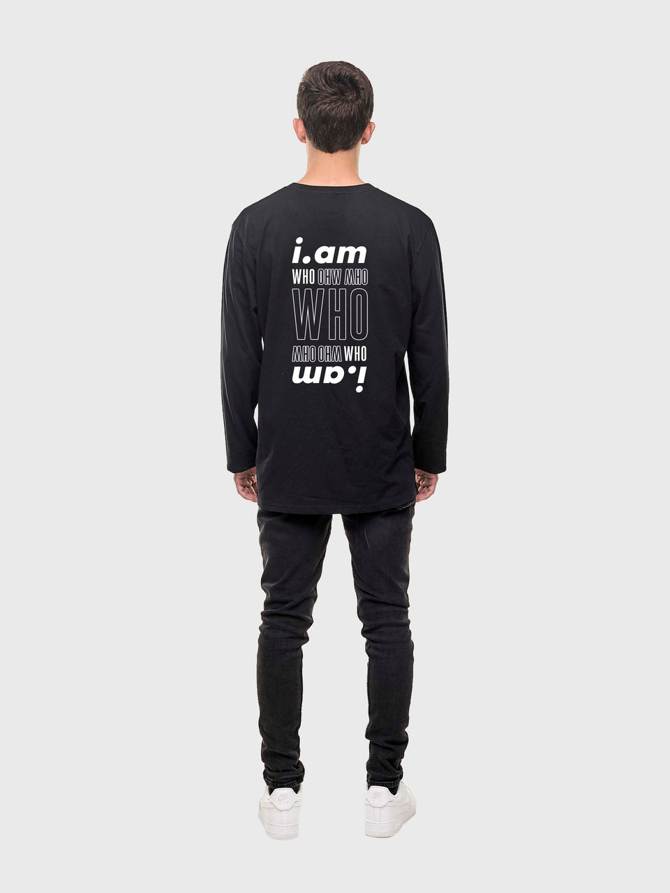 I am who I am - Black - Unisex long sleeve T