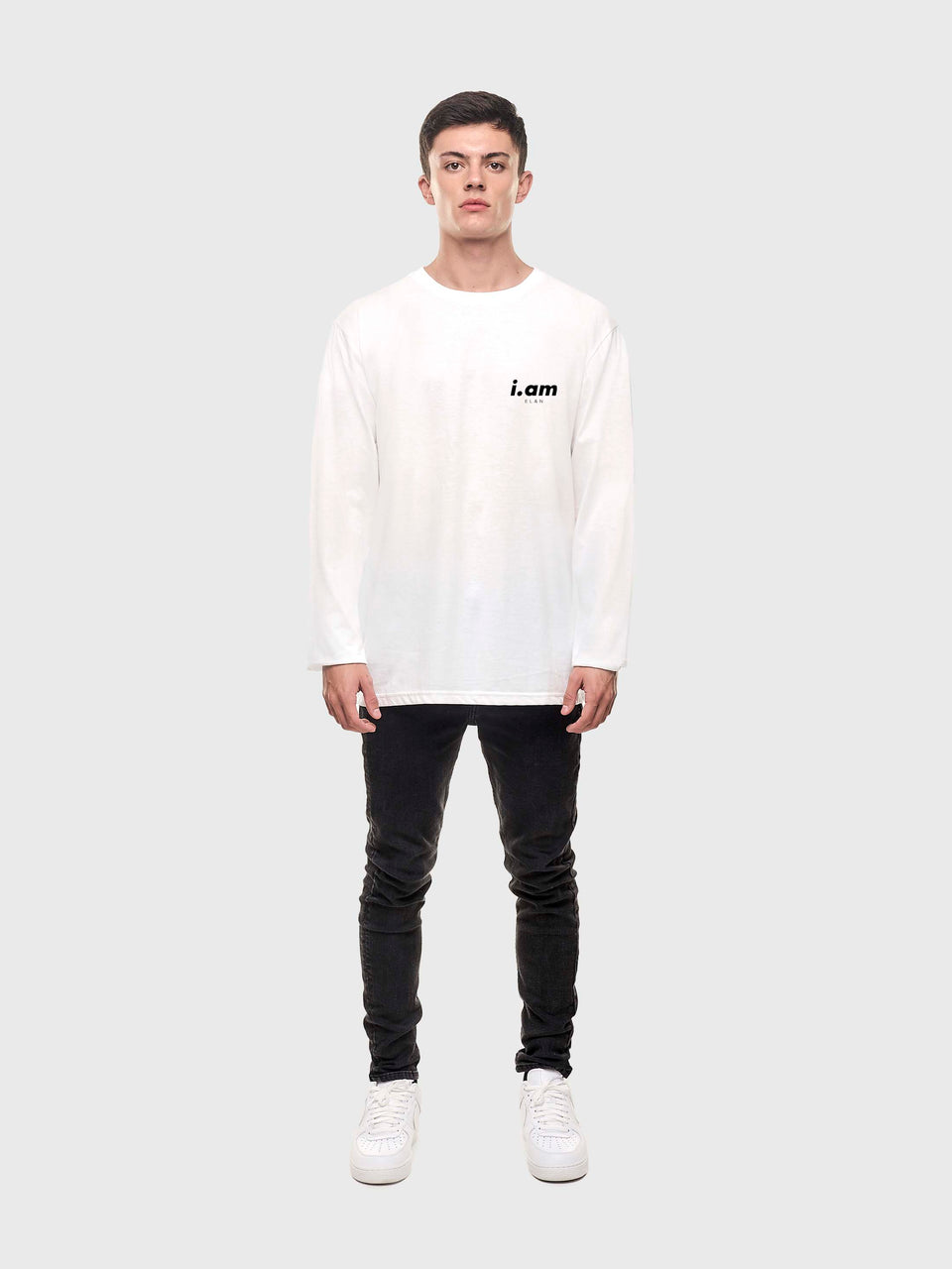 Not a copy - White - Unisex long sleeve T