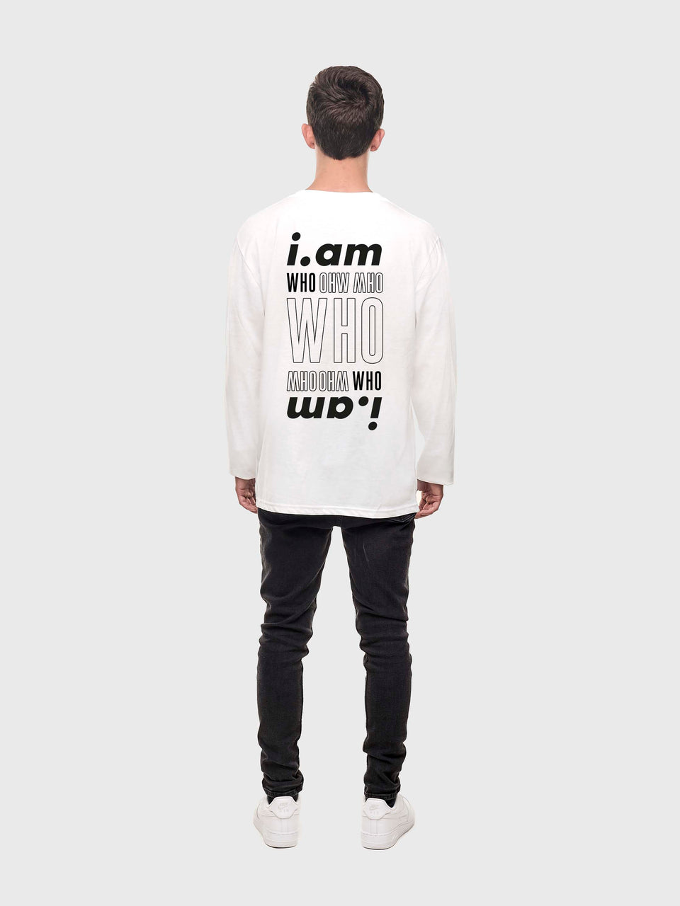 I am who I am - White - Unisex long sleeve T
