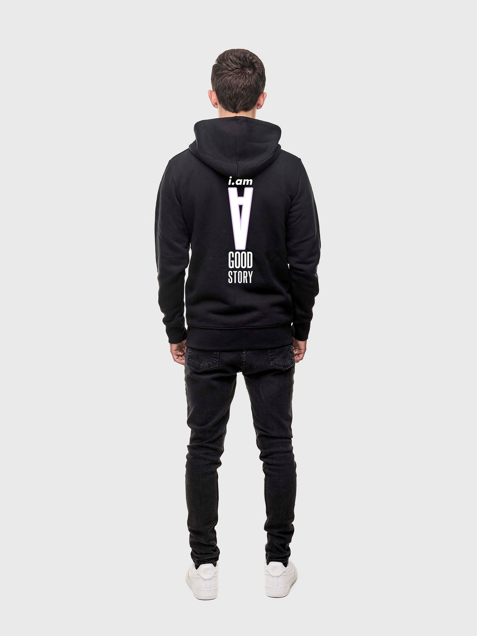 A good story - Black - unisex zip up hoodie