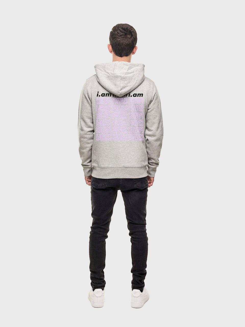Power - Grey - Unisex pull over hoodie