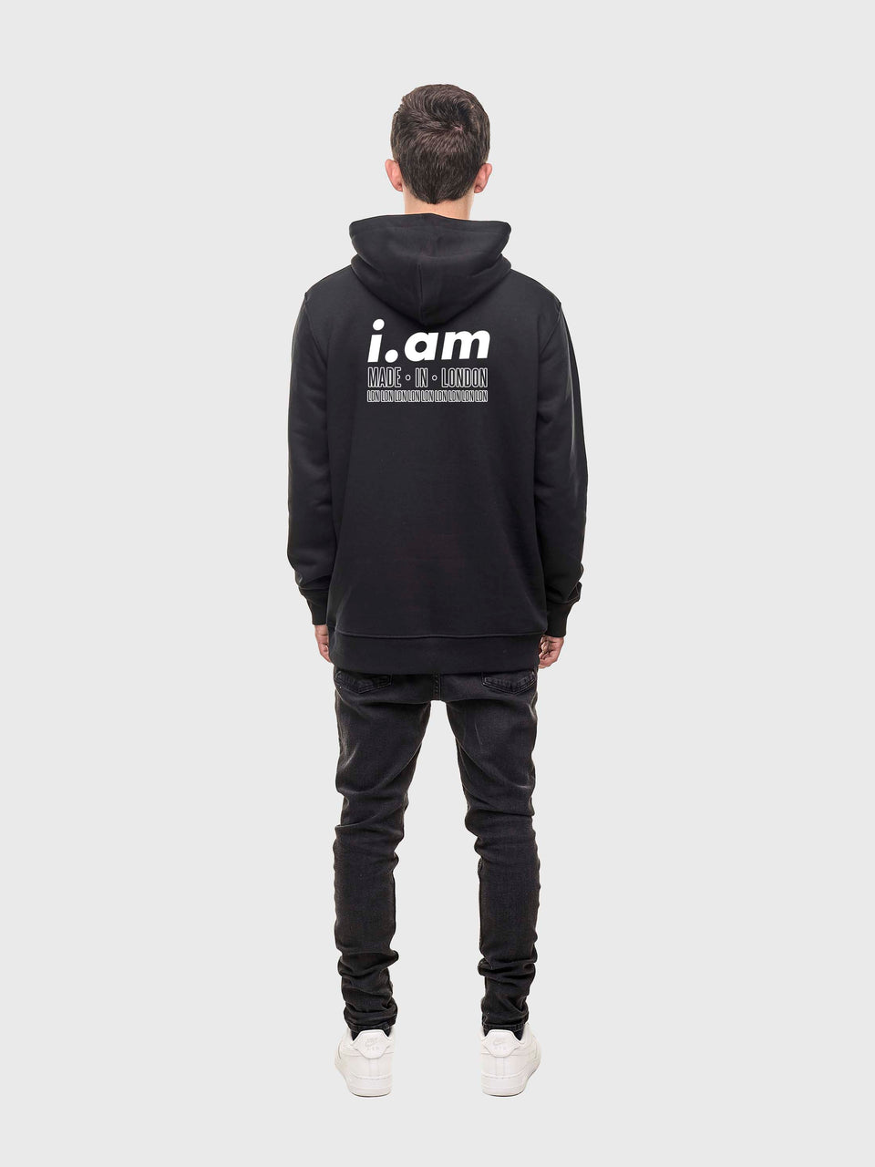 Made in London - Black - Unisex pull over hoodie