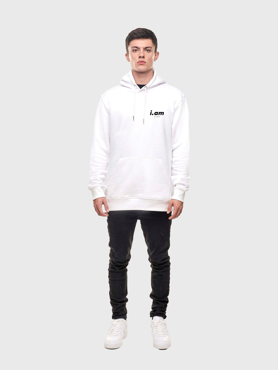 Made in London - White - Unisex pull over hoodie