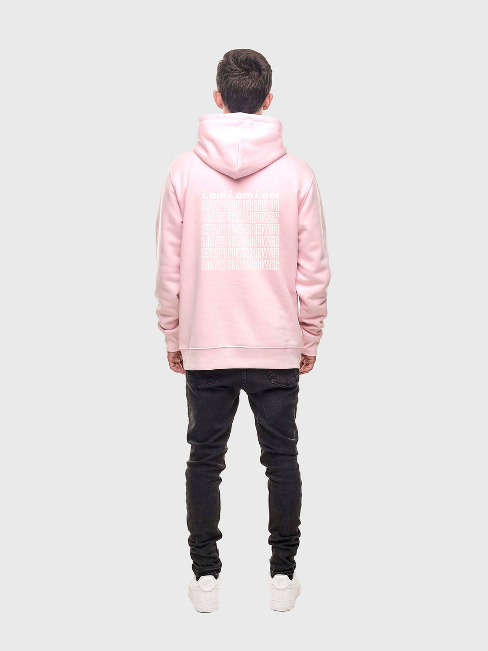 Power - Pink - Unisex pull over hoodie