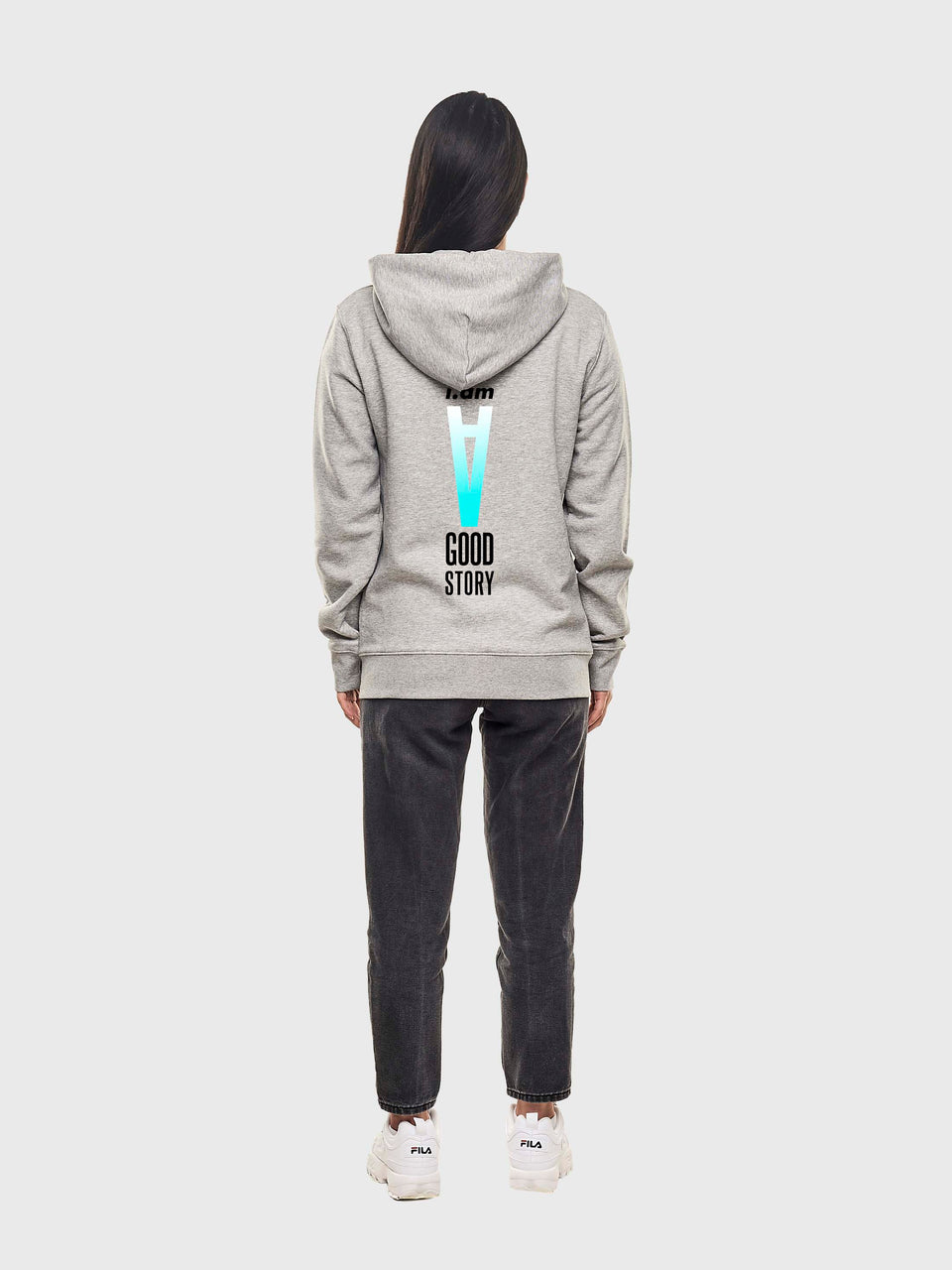 A good story - Grey - Unisex zip up hoodie