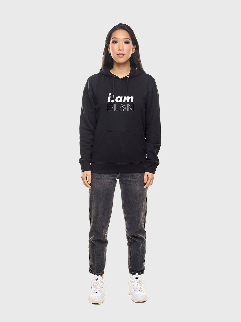 i.am EL&N - Black / Navy - Unisex pull over hoodie
