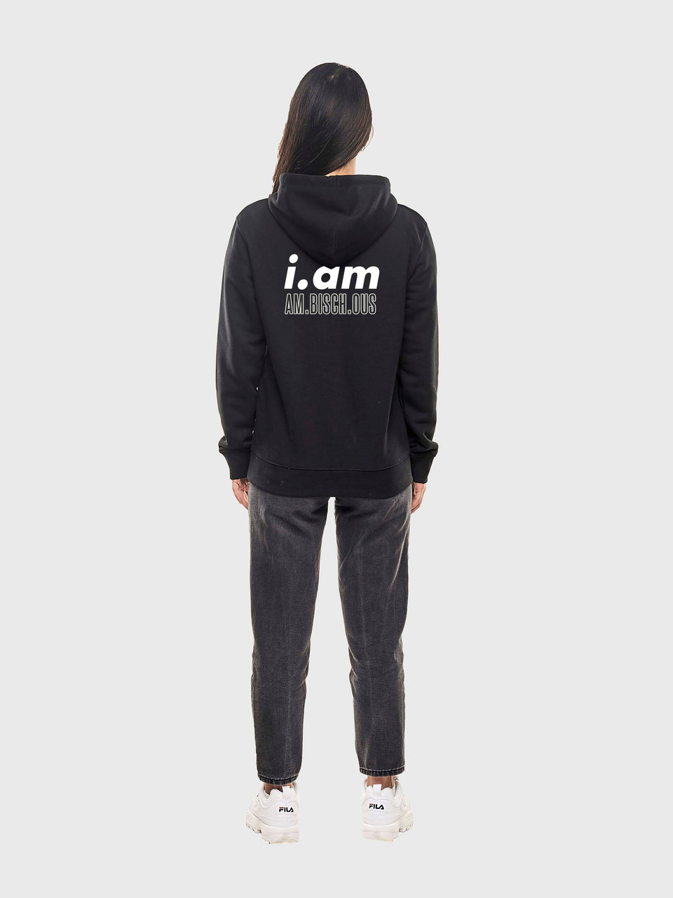 Am.bisch.ous - Black - unisex pull over hoodie