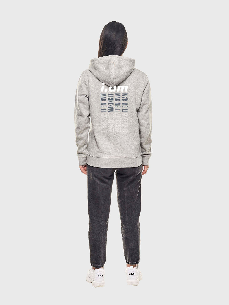 Making it - Grey - Unisex zip up hoodie