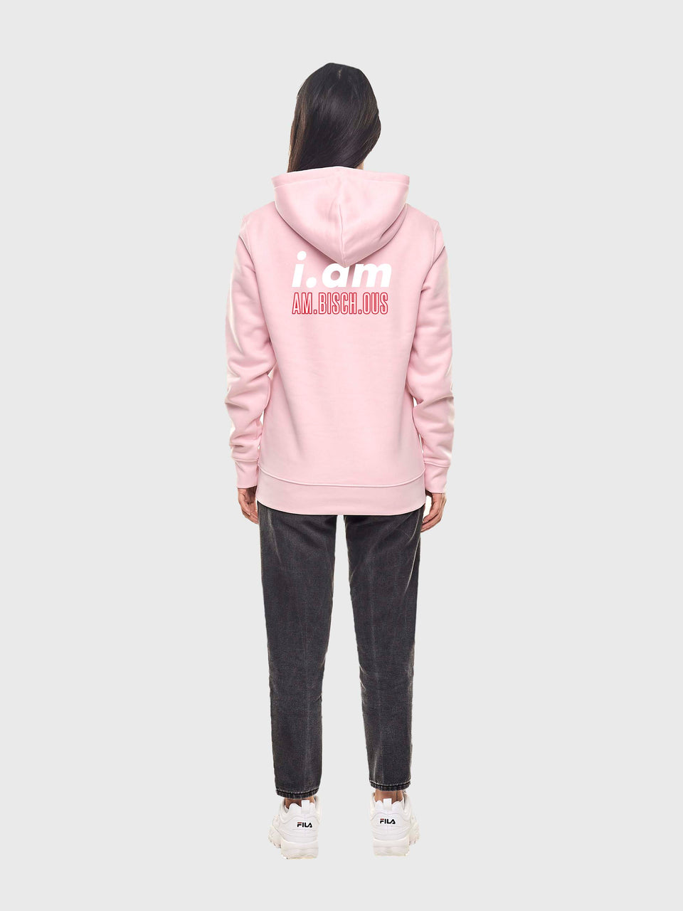 Am.bisch.ous - Pink - Unisex pull over hoodie