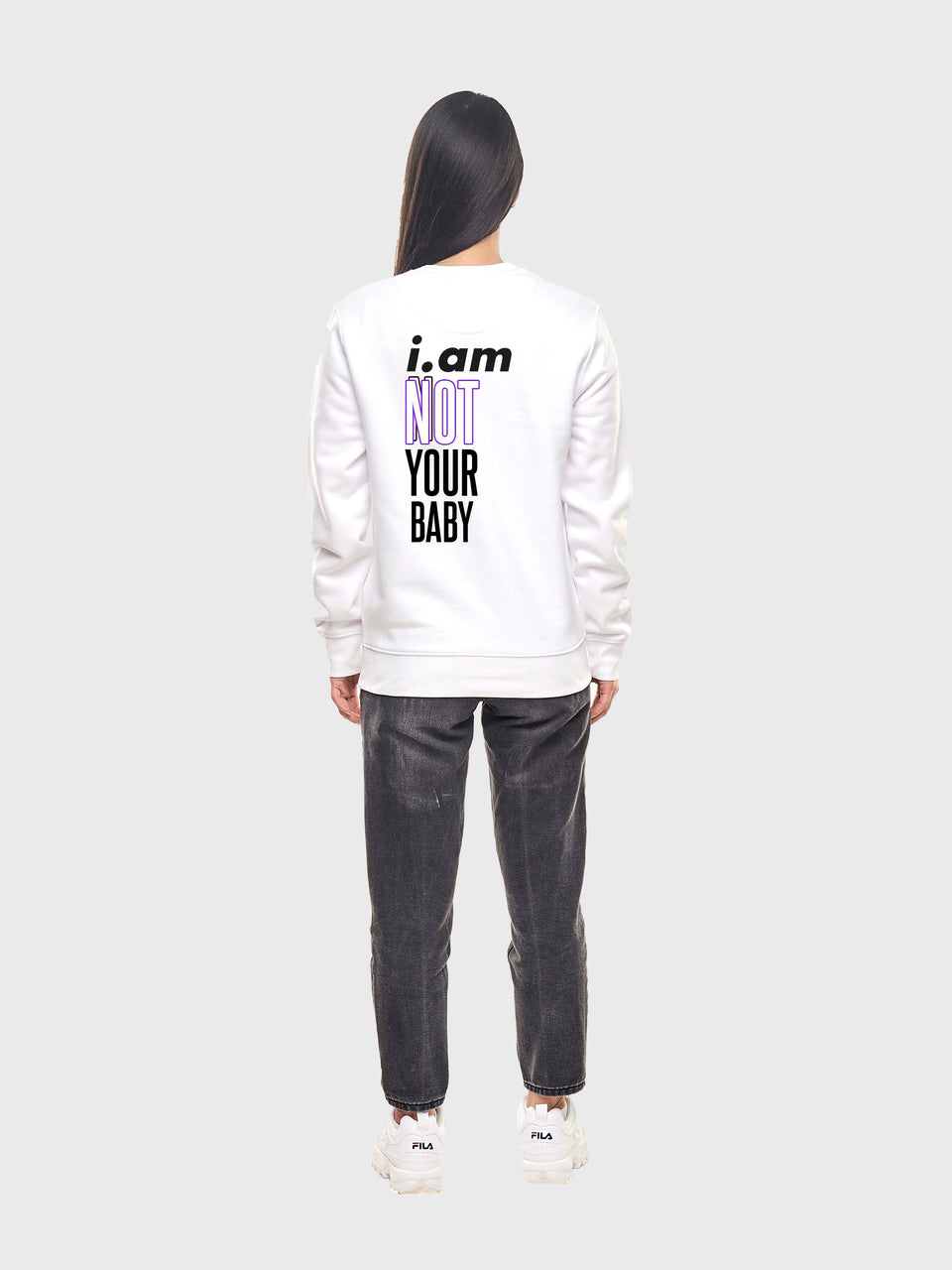 Not your baby - White - unisex sweatshirt