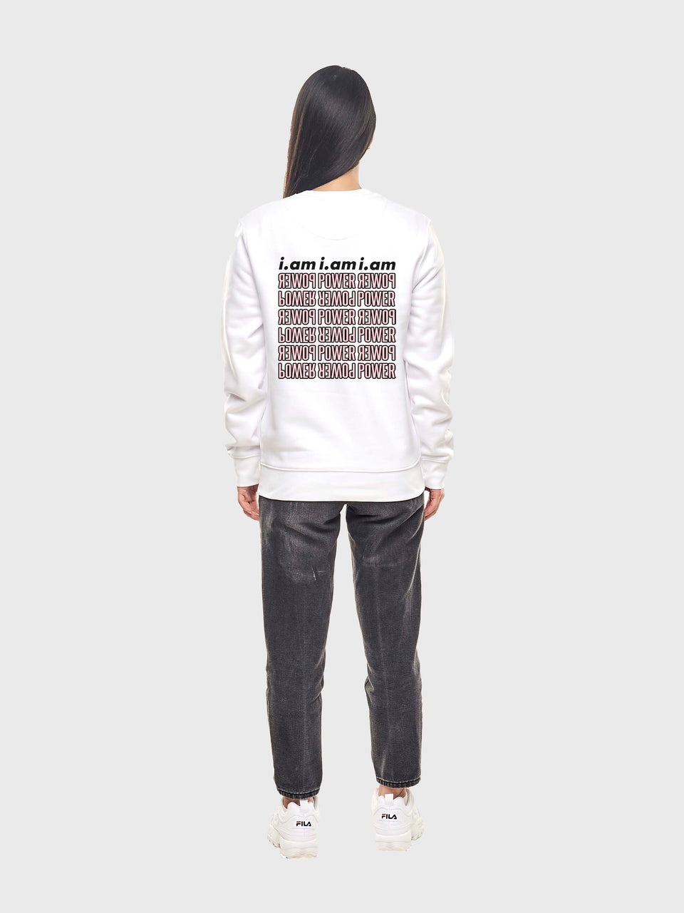 Power - White - Unisex sweatshirt