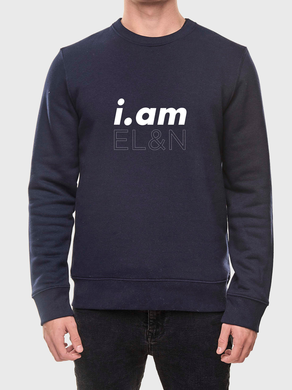 i.am EL&n - Black / Navy - unisex sweatshirt