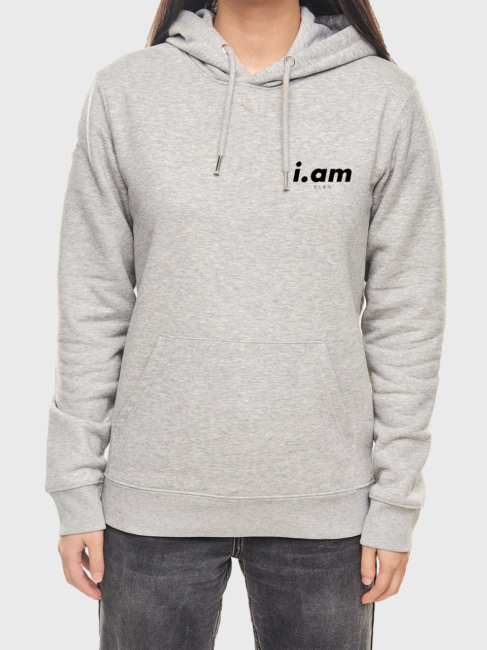 I am who I am - Grey - Unisex pull over hoodie
