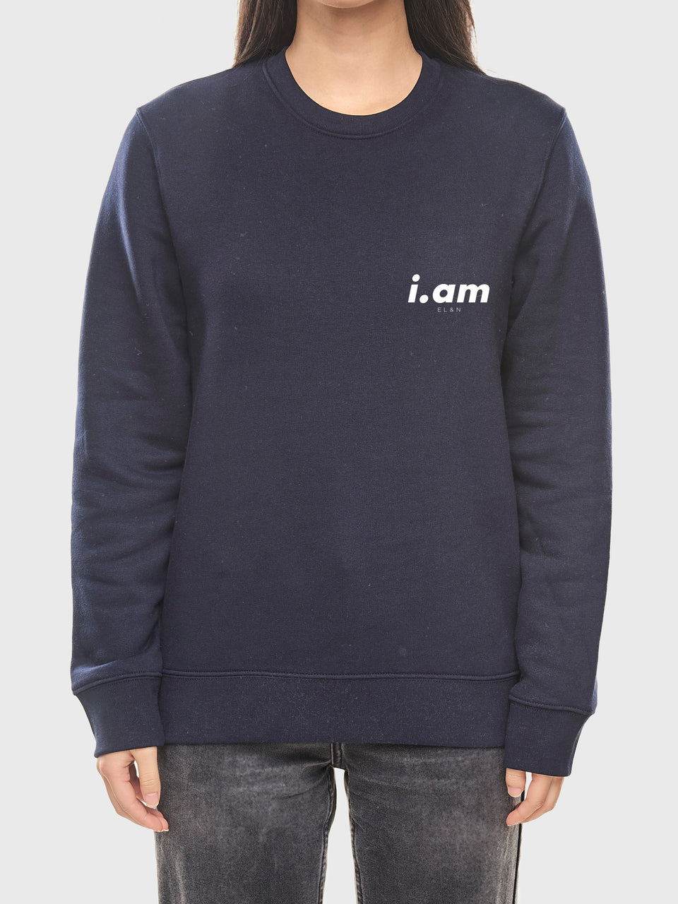 I am who I am - Navy - Unisex sweatshirt