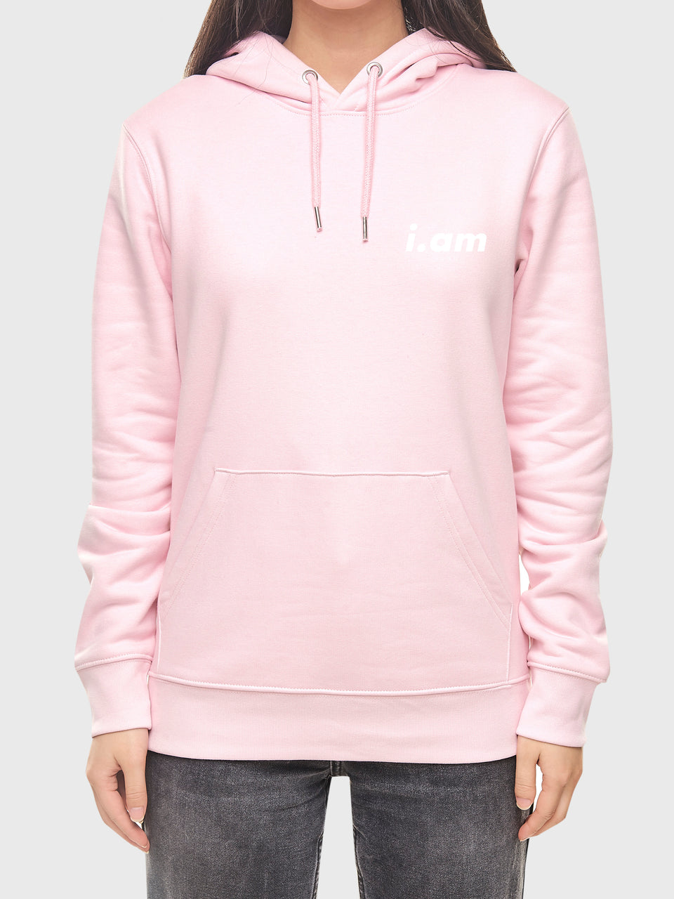 I am who I am - Pink - Unisex pull over hoodie