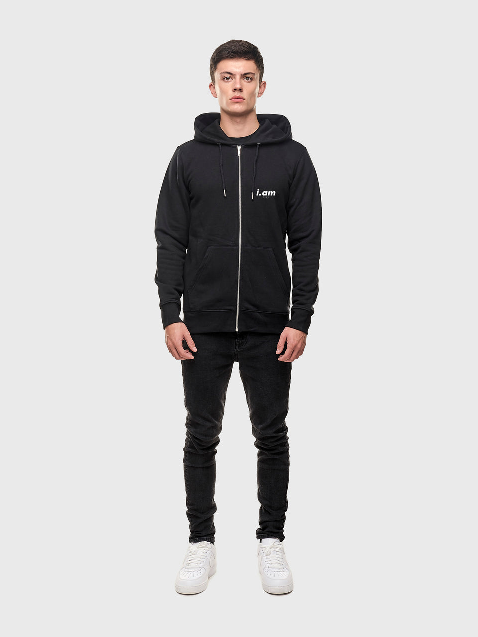 Showing not telling - Black - Unisex zip up hoodie