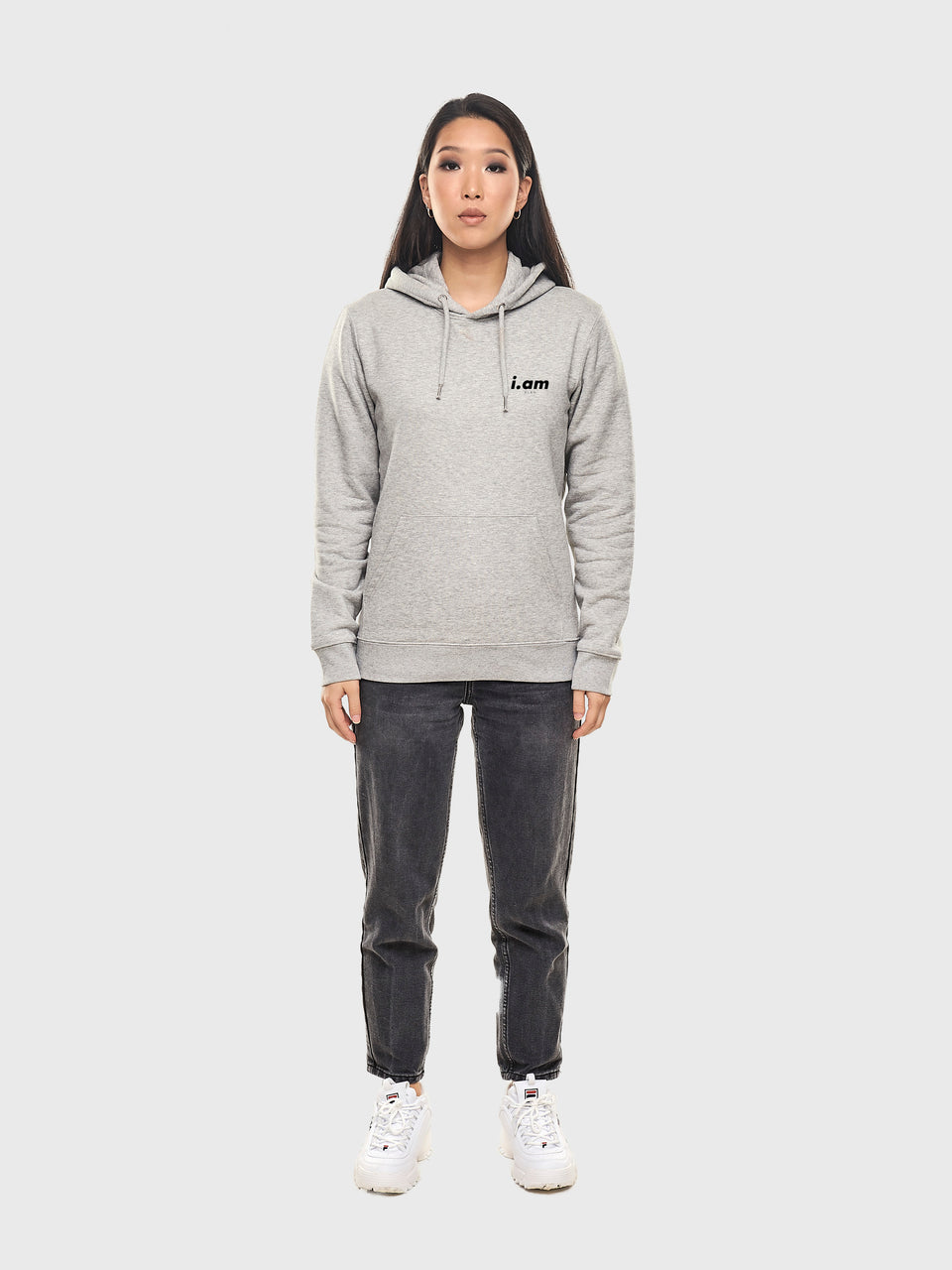 A good story - Grey - Unisex pull over hoodie