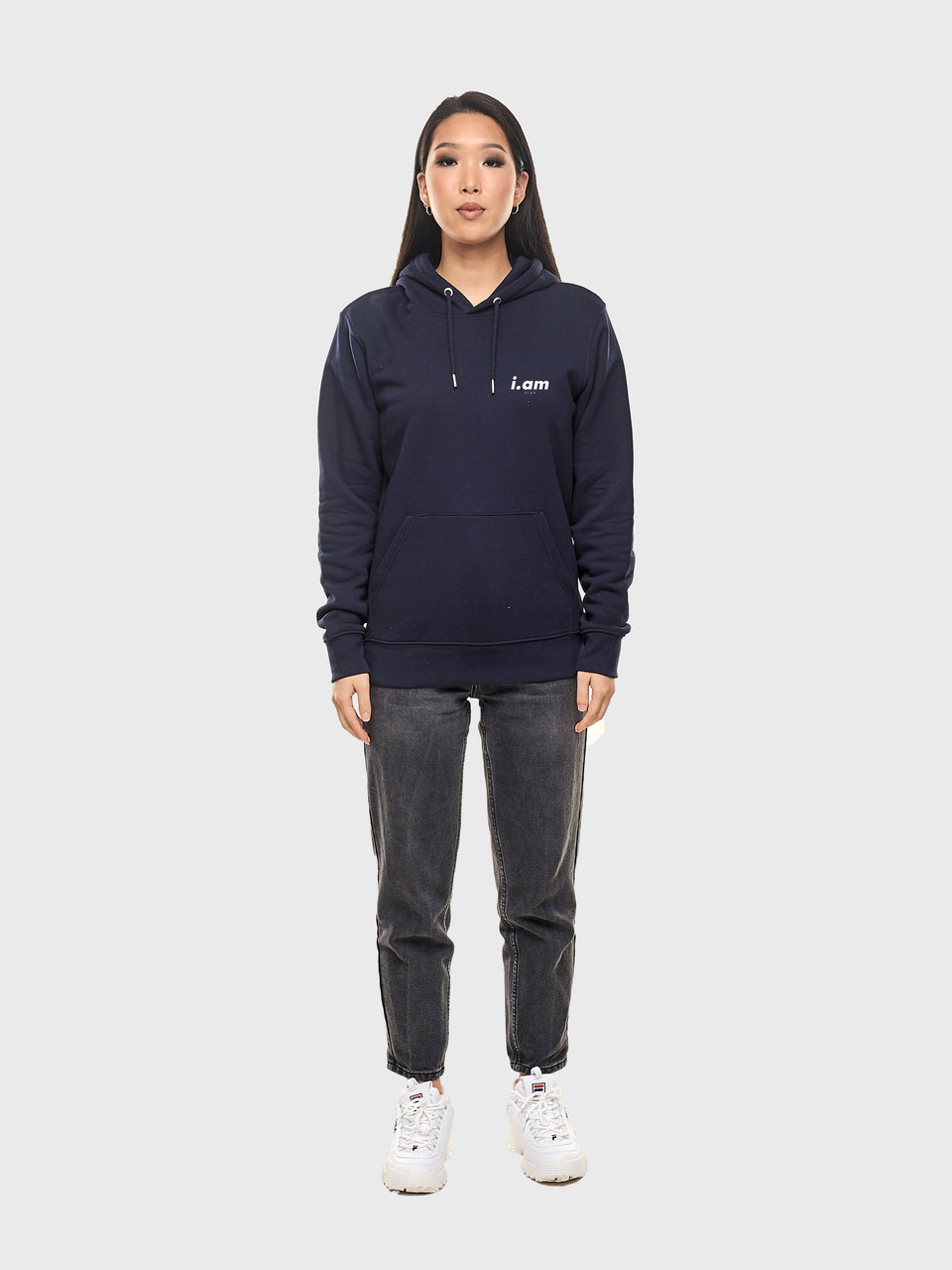 Not a copy - Navy - Unisex pull over hoodie