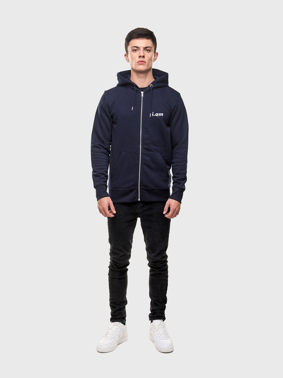Making it - Navy - Unisex zip up hoodie