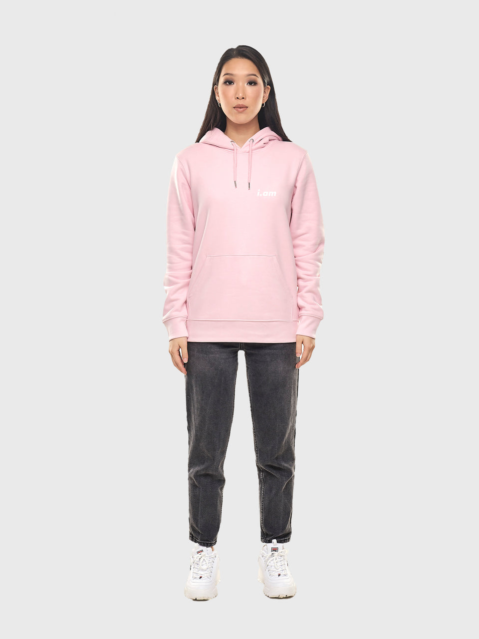 Showing not telling - Pink - Unisex pull over hoodie