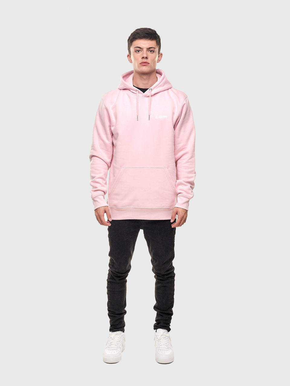 The connect - Pink - Unisex pull over hoodie