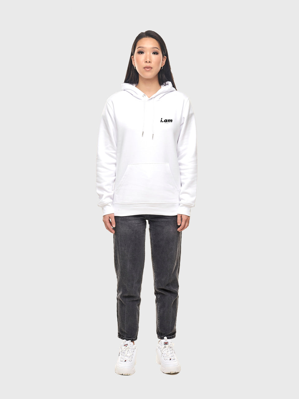 Am.bisch.ous - White - Unisex pull over hoodie