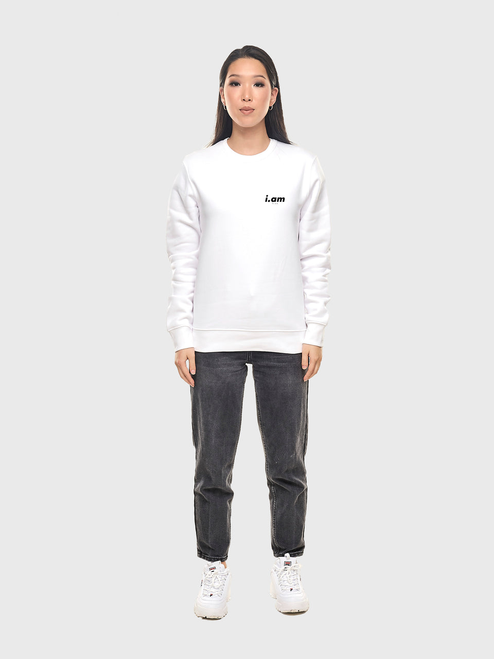 Not a copy - White / Grey - Unisex sweatshirt