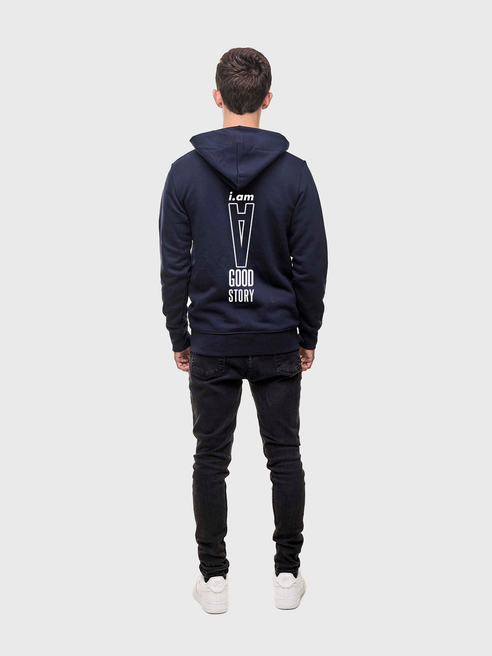 Good story - Navy - Unisex pull over hoodie