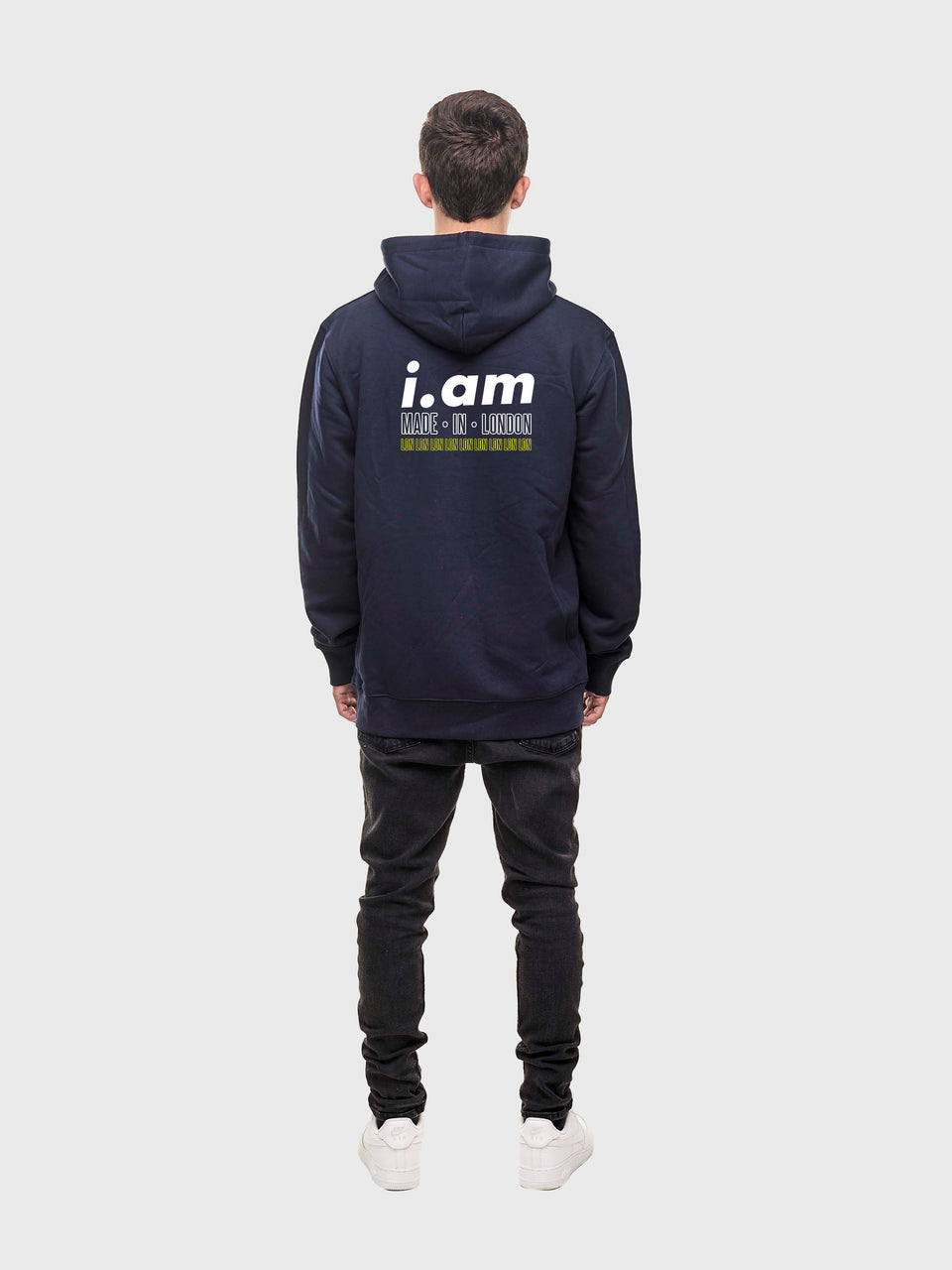 Made in London - Navy - Unisex pull over hoodie