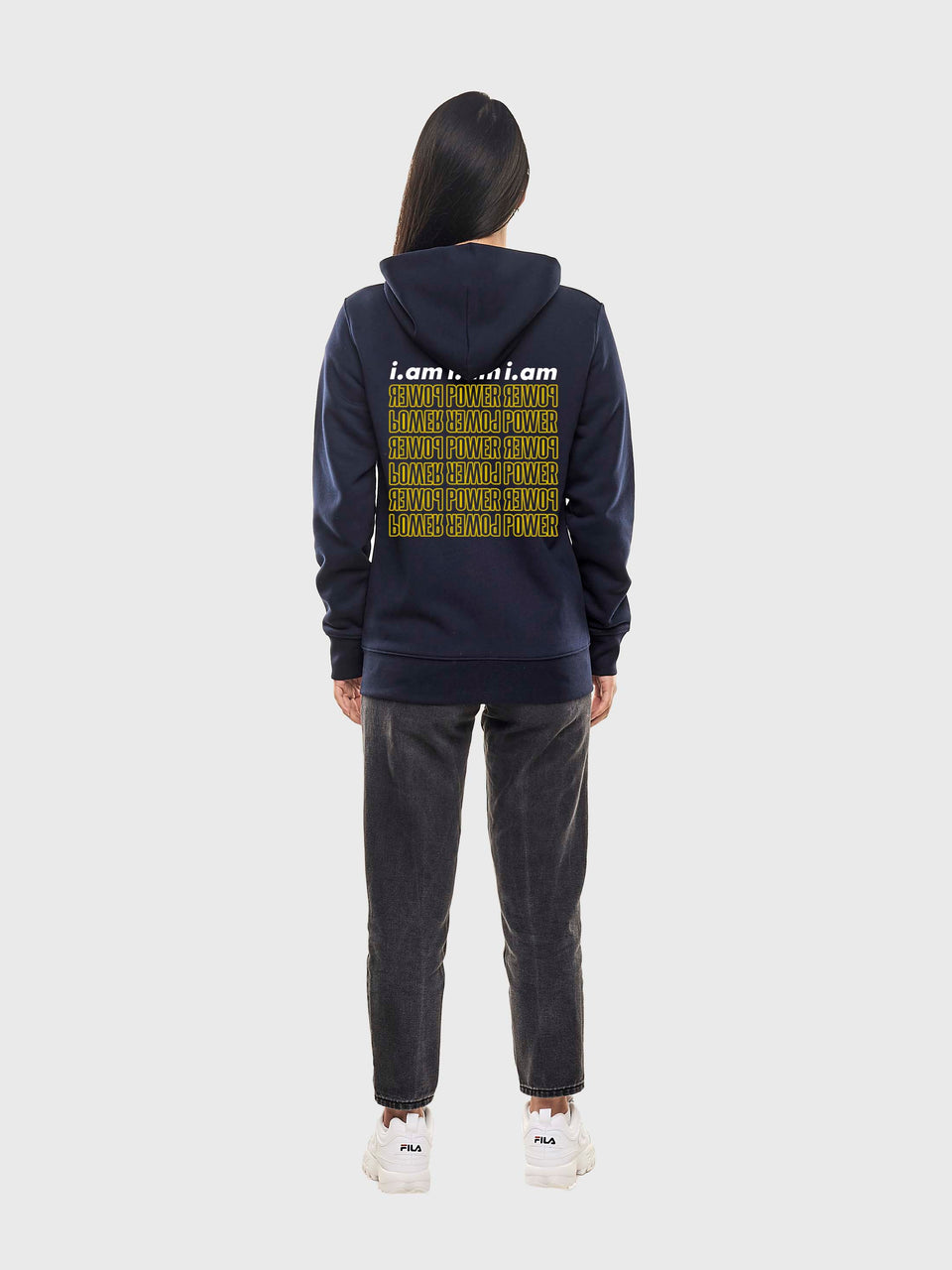 Power - Navy - Unisex pull over hoodie