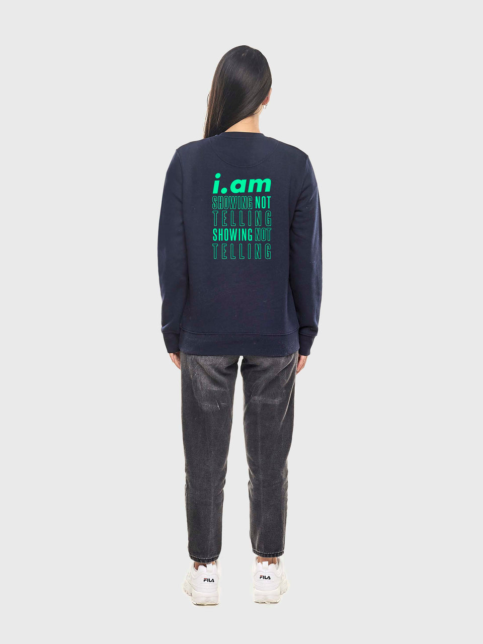 Showing not telling - Navy - Unisex sweatshirt