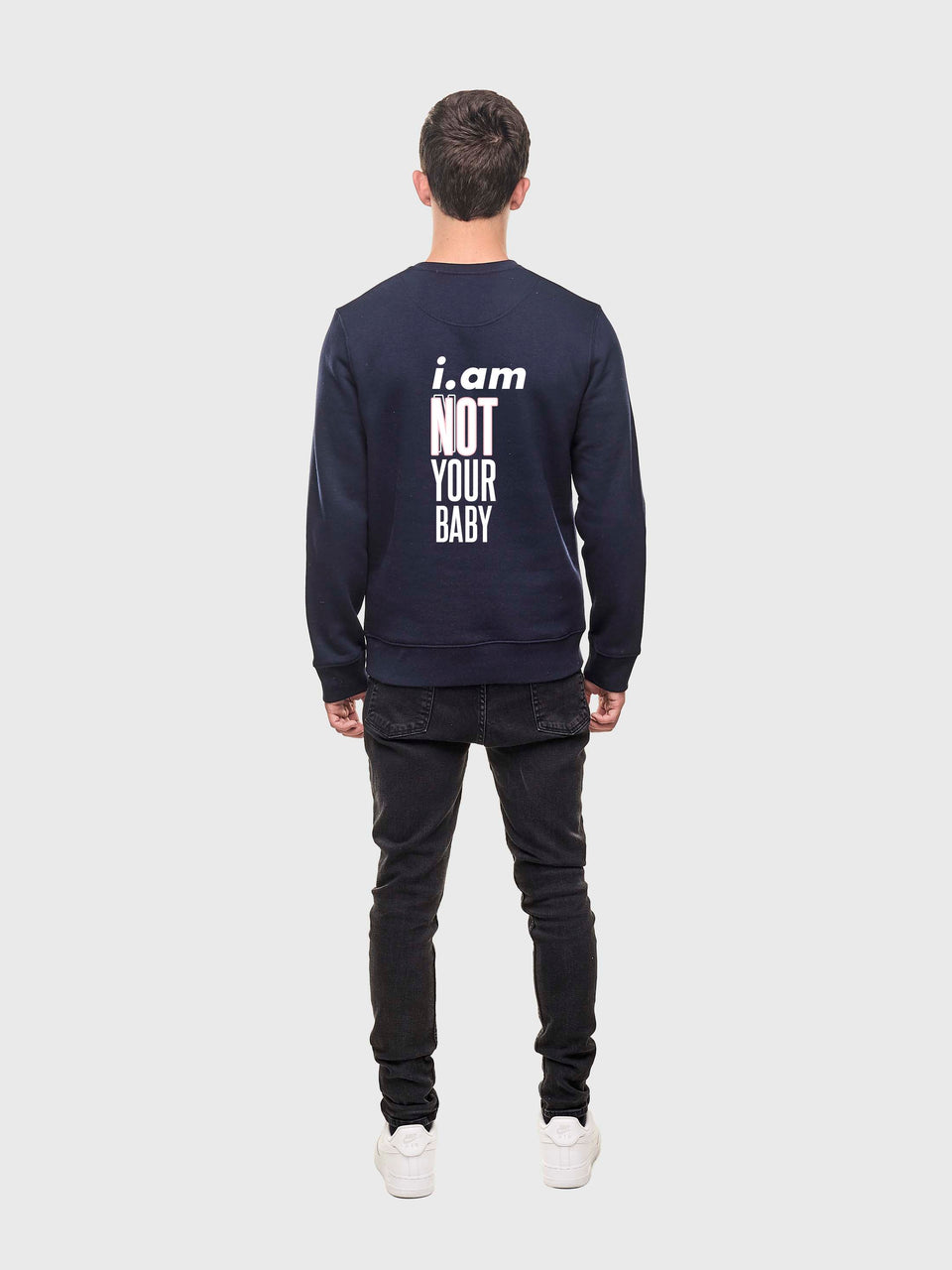 Not your baby - Navy - unisex sweatshirt