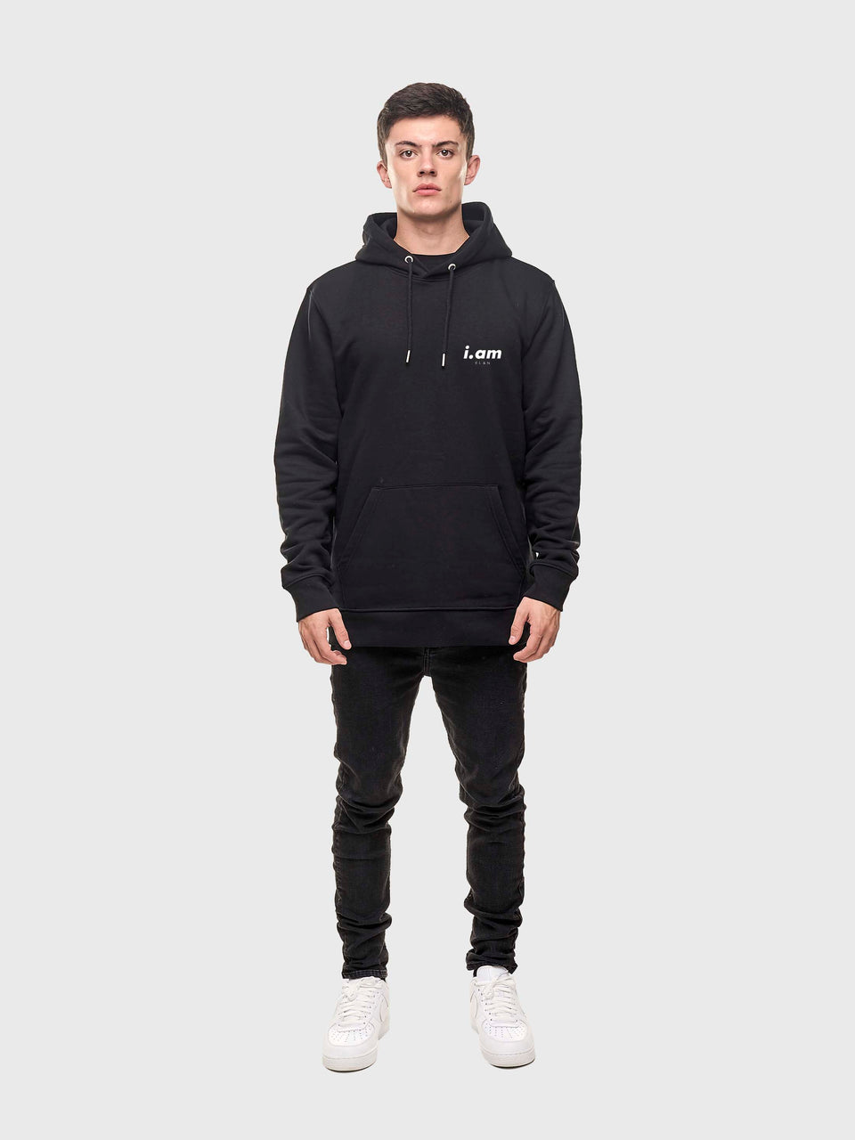 Power - Black - Unisex pull over hoodie