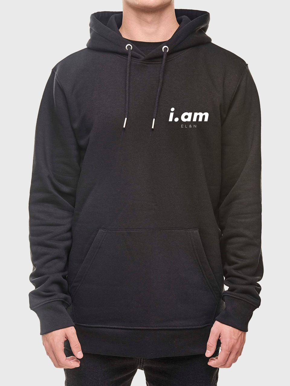 Showing not telling - Black - Unisex pull over hoodie
