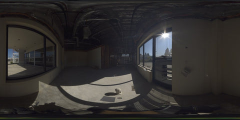 HDR LightMap: Foreclosed Dealership Office (Day)