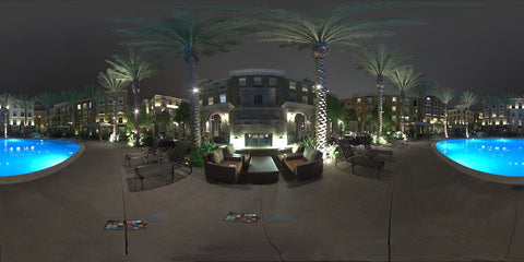 HDR LightMap: Pool Side At the Park (Night)