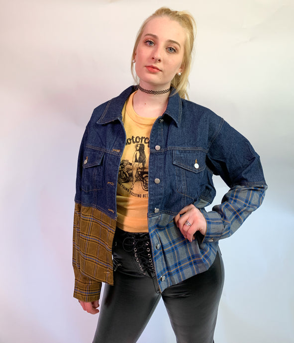 Patched Up Jean Jacket