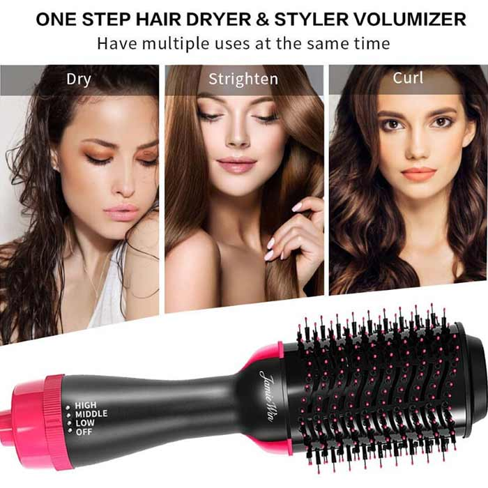 2 in 1 Hair Dryer with Brush