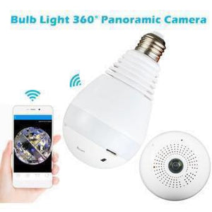 Bulb WiFi CCTV Panoramic Camera