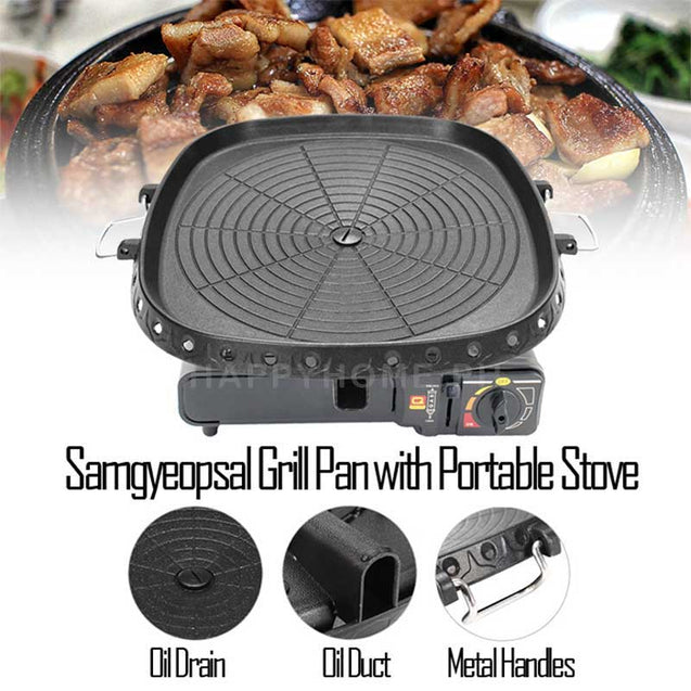 Samgyeopsal Grill Pan with Portable Stove