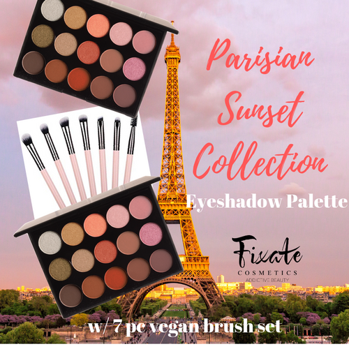 PARISIAN SUNSET EYE SHADOW PALETTE  w/ brush set