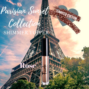 PARISIAN SUNSET COLLECTION -ROSE' LIQUID SHIMMER TOPPER