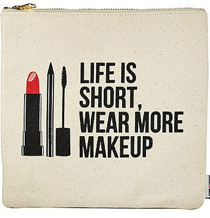 Beauty Quotes Large Cosmetics Clutch