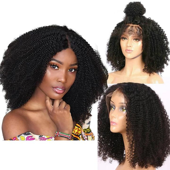 kinky curly lace front wig