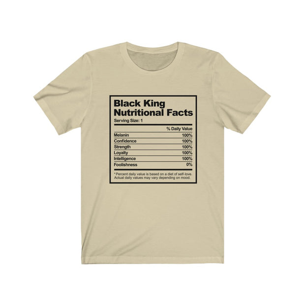 Black King Nutritional Facts, African Pride T shirt, Black Culture T shirt - Coils and Glory Shop