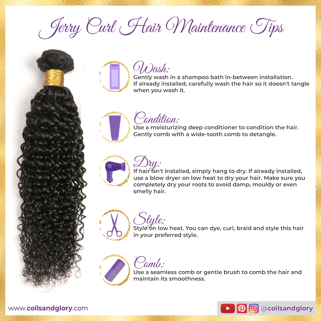 jerry curl weave bundle